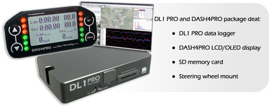 Racing Data Logger : Race technology performance dl pro and dash lcd package